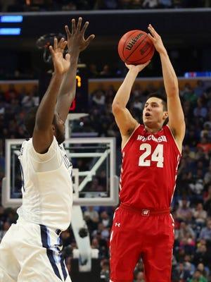 Wisconsin guard Bronson Koenig puts up a shot against Villanova during this year's NCAA Tournament.