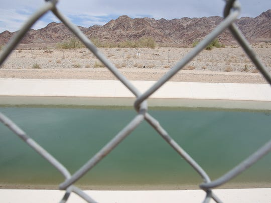 The Coachella branch of the All-American Canal carries water from the Colorado River to the Coachella Valley.