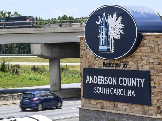 Anderson County welcome sign
