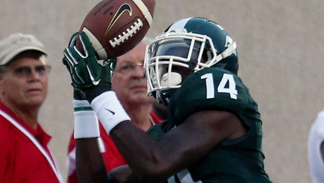 Michigan State wide receiver Tony Lippett has made a nice transition from high school quarterback.