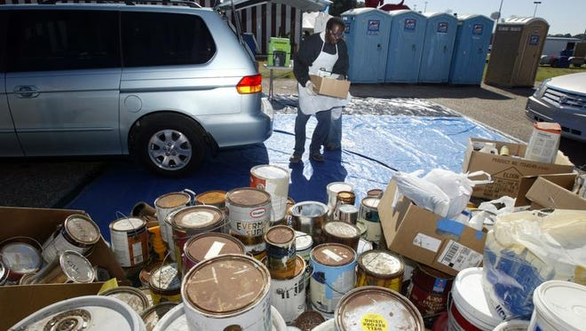 Lafayette city and unincorporated residents may drop off paint and other chemicals at Household Chemical Day at Cajun Field on Saturday morning.