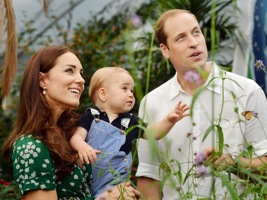 Britain's Prince William and Duchess Kate and their son Prince George made lots of headlines.