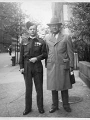 Fred and Elias Loewy on Memorial Day 1947 in New York.