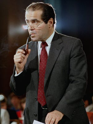 Antonin Scalia at his 1986 confirmation hearing in Washington, D.C. He was confirmed 98-0.