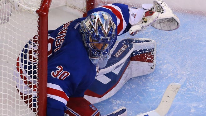 New York Rangers goalie Henrik Lundqvist limited the Pittsburgh Penguins to eight goals in five games.