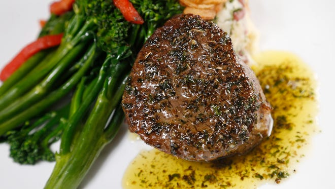 The steak DeBurgo Thursday, March 16, 2017, at Sam and Gabe's restaurant on Hickman Road in Urbandale.