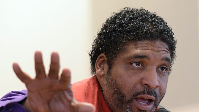 Dr. Rev. William Barber speaks at Tried Stone Missionary Baptist Church in Asheville earlier this year.