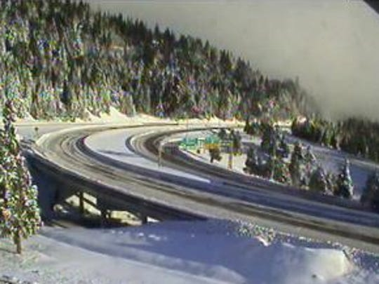 Interstate 5 at Exit 6 near Siskiyou Summit Wednesday morning.