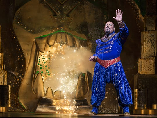 "James Monroe Iglehart plays the Genie in ""Aladdin"""