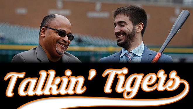 "Drew Sharp, left, and Anthony Fenech star in our Detroit Tigers podcast, ""Talkin' Tigers,"" every Wednesday."