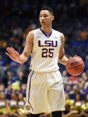 LSU Tigers forward Ben Simmons (25) is still holding at the top of the mock draft.