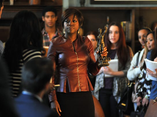 "Viola Davis, center, in the new series ""How to Get"