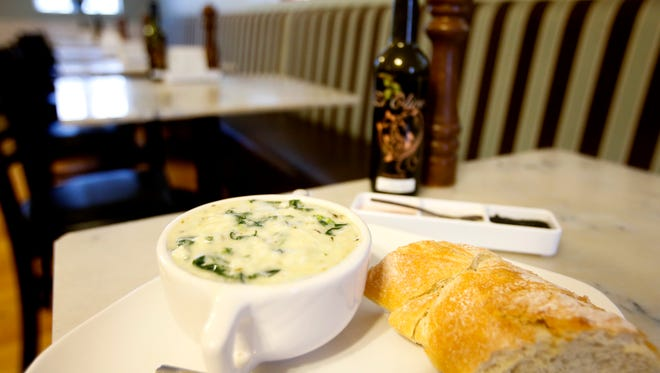 The broccoli rabe cream soup from Ghyslain.