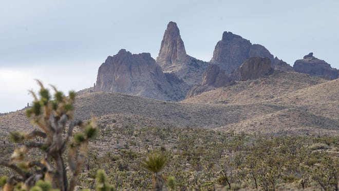 The Castle Peaks got their name because they resemble the ramparts of a castle.