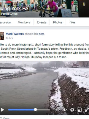 YDR reporter shared this impromptu short-form story on YDR's Fixing York Facebook group.