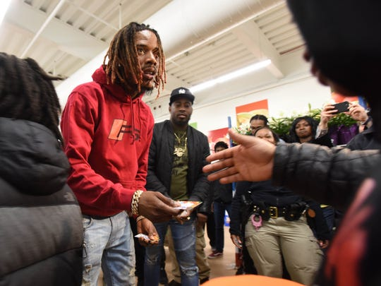 Fetty Wap came to Center City Mall in Paterson March 27, 2018 to give out gift cards to help people get their holiday meals.