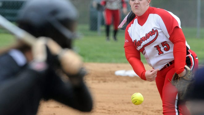 Erwin's Kayla McCarson (15) has committed to play college softball for North Greenville.