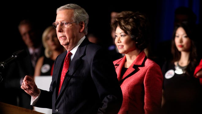Mitch McConnell spoke Tuesday night at the Louisville Marriott East Hotel after winning the U.S. Senate Republican primary. He comfortably beat Matt Bevin in tea party territory - Boone County.