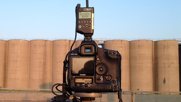 Camera on top of Allen Electric on July 31, the start of the silos' razing.