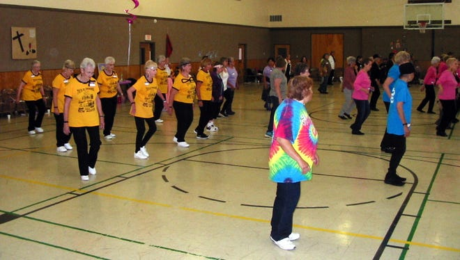 Over 100 line dancers were guests of the Zia Zingers Rock 'n' Roll Jamboree on Thursday, Oct. 8, 2016 at the First United Methodist Church in Deming.
