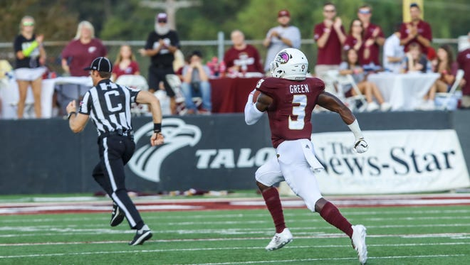 Marcus Green's (3) 2,008 all-purpose yards and 32.4 kickoff return average were both tops in the Sun Belt Conference and his NCAA-best four kick return touchdowns earned him several All-American honors as a junior.