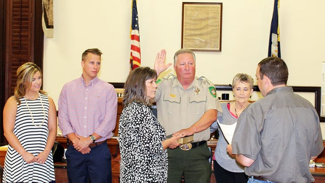 Sheriff Rodney Arbuckle is sworn in for his fifth term.