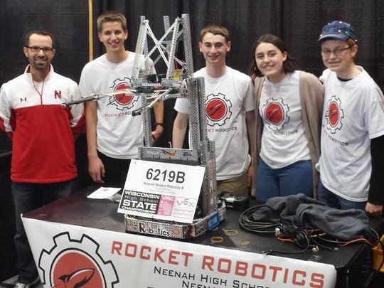 The Neenah High School Rocket Robotics team of Eli