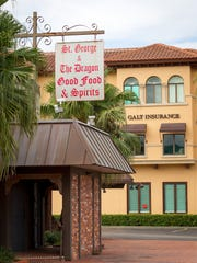 The shuttered St. George & the Dragon restaurant on Fifth Avenue South in Naples in 2013.