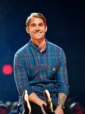 Brett Young performs during the 53rd Academy of Country Music Awards at the MGM Grand Garden Arena on Sunday, April 15, 2018, in Las Vegas.