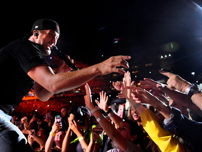 Luke Bryan performs at the 2018 CMA Music Fest Sunday,
