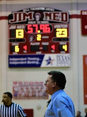 Winters girls basketball coach Val Acree directs his