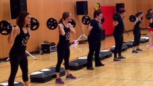 YMCA group fitness instructors team-led a Les Mills BODYPUMP Class at the Celebration Saturday event held in January at the Fond du Lac Family YMCA. BODYPUMP is one of seven Les Mills classes offered at the YMCA, taught by certified instructors who have completed intensive training.