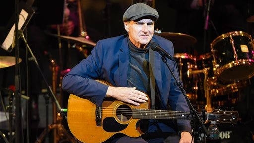 James Taylor performs at the Nearness of You concert at Jazz at Lincoln Center on Tuesday in New York.