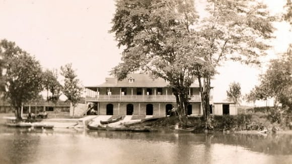 This postcard shows the Hartley Boat Club in operation a century ago on the Codorus Creek, north of York.