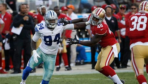 Dallas Cowboys defensive end Randy Gregory (94) is part of a young core for the team.