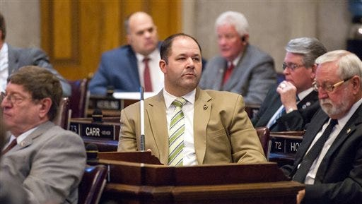 Rep. Andy Holt, R-Dresden, attends a House floor debate in Nashville on Wednesday about a bill to allow counselors to refuse treatment of patients based on personal beliefs. Those opposed to the bill, say the measure casts such a wide net that therapists could virtually turn anyone away.