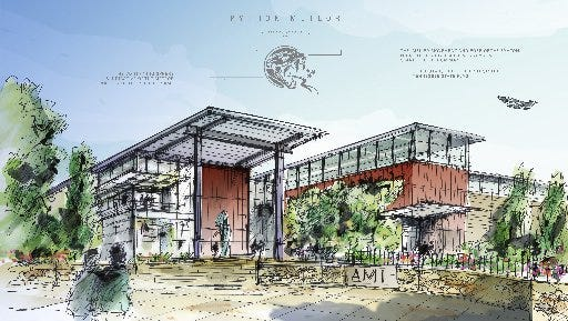 Artists rendering of AMI munitions plant proposed for Alcoa's Partnership Park