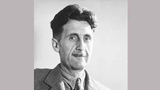 "FILE - This undated image shows George Orwell, author of ""1984."" Orwell's classic dystopian tale of a society in which facts are distorted and suppressed in a cloud of ""newspeak,"" first published in 1949, was in the top 5 on Amazon.com as of midday, Tuesday, Jan 24, 2017."