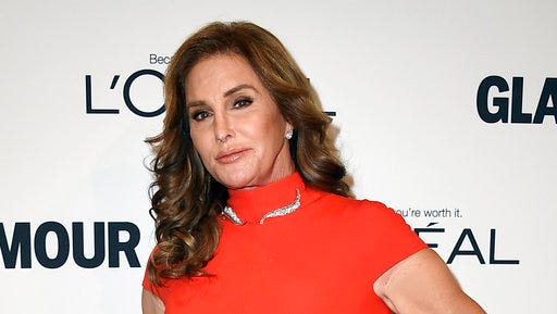 """FILE - In this Nov. 14, 2016 file photo, Caitlyn Jenner arrives at the Glamour Women of the Year Awards in Los Angeles. ABC News' Diane Sawyer will interview Caitlyn Jenner on a """"20/20"""" special  scheduled for April 21, 2017, four days before the release of Jenner's book, """"The Secrets of My Life."""""""