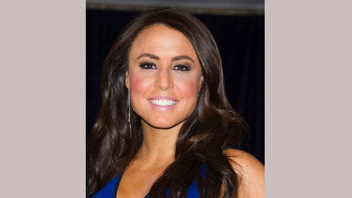 FILE - In this April 25, 2015 file photo, Andrea Tantaros attends the 2015 White House Correspondents' Association Dinner in Washington. Former Fox News host Andrea Tantaros said in a lawsuit Monday,April 24, 2017, she believes network operatives used bogus social media accounts to torture her after she complained about sexual harassment. She also said she believes someone hacked her computer and phone. Tantaros' attorney, Judd Burstein, filed the suit in Manhattan federal court. The lawsuit doesn't offer hard evidence that Fox was behind harassing tweets.