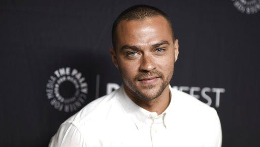 "FILE - In this March 19, 2017, file photo, Jesse Williams attends the 34th annual PaleyFest: ""Grey's Anatomy"" event at the Dolby Theatre in Los Angeles. Williams filed for divorce from Aryn Drakelee-Williams on April 11 in Los Angeles, citing irreconcilable differences."