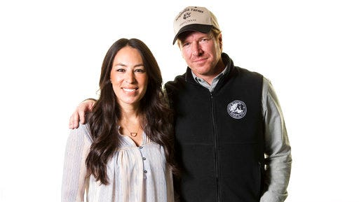 """FILE - In this March 29, 2016, file photo, Joanna Gaines, left, and Chip Gaines pose for a portrait in New York to promote their home improvement show, """"Fixer Upper,"""" on HGTV. Gaines responded on Twitter April 29, 2017, to a lawsuit filed against him by former business partners in Texas."""