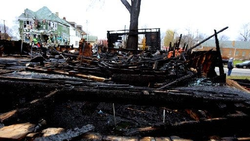 A morning fire Nov. 21, 2013, destroyed the Penny House, a part of Tyree Guyton's Heidelberg Project.