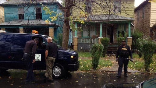 A pack of dogs attacked a man late Thursday, Oct. 2, 2014, outside this house in the 4500 block of Pennsylvania, which is between East Warren and Mack avenues, in Detroit.