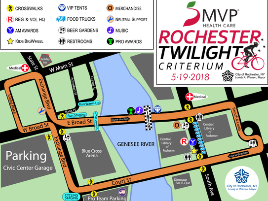 The course of the 2018 MVP Health Rochester Twilight