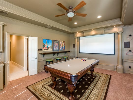 The game room at 40 Duck Haven Point.
