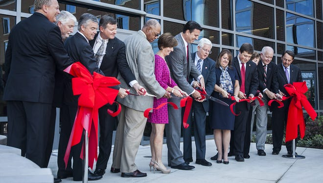 Four months after cutting the ribbon on a new residence hall with the board of trustees, Ball State President Paul Ferguson quit.