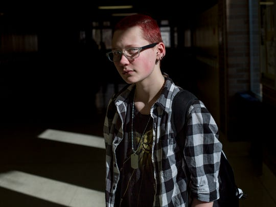 """""""Teenagers reading that headline (about withdrawing federal guidelines) can think 'I can make fun of you because someone like the president says so,'"""" said Port Huron Northern High School junior Dominick Newsome, a transgender male who came out during his freshman year. On Feb. 22, the Trump administration rolled back federal guidance put in place by the Obama administration last year that specified transgender students have the right to use public restrooms that match their gender identity."""