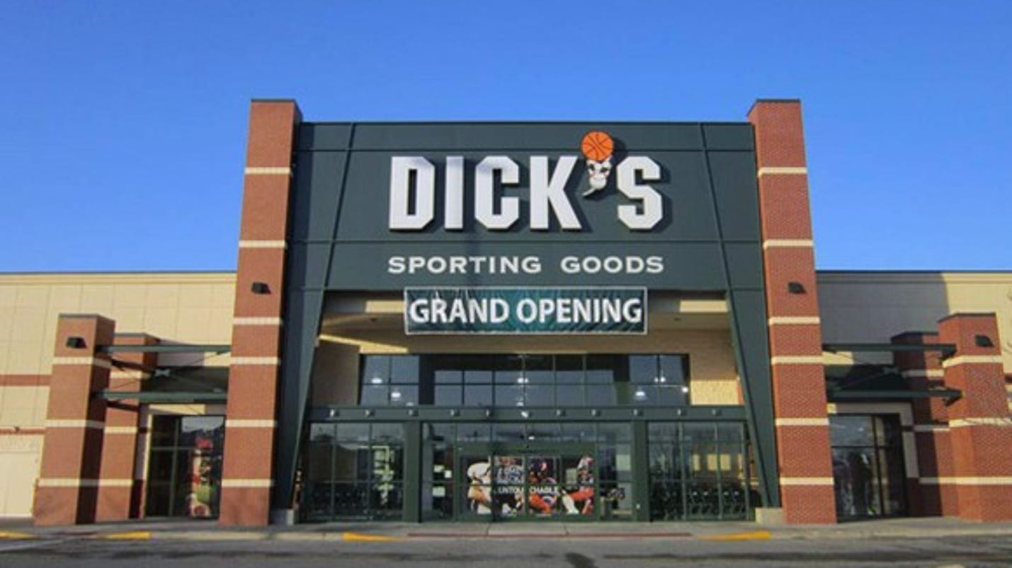 Dick's Sporting Goods's stock dives after J.P. Morgan cuts rating, price target. Shares of Dick's Sporting Goods Inc. took a % dive in morning trade Thursday, wiping out the previous session's.