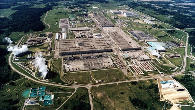 The Portsmouth Gaseous Diffusion Plant in Piketon, Ohio.